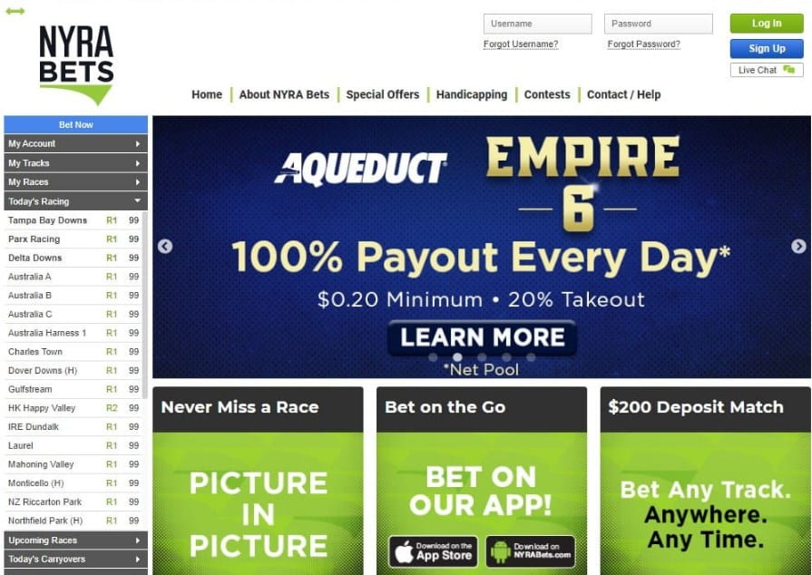 Betting at Nyra Online Sportsbook