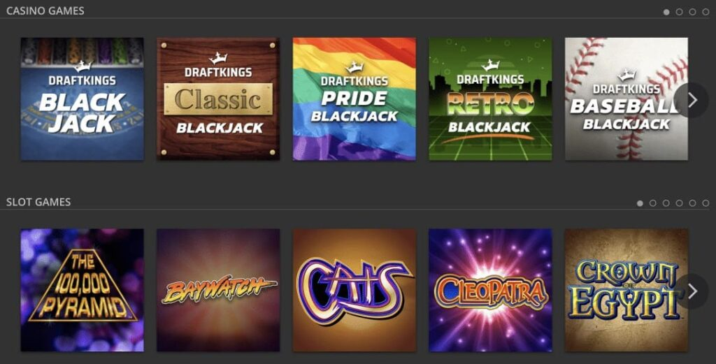 Draftkings Casino Games